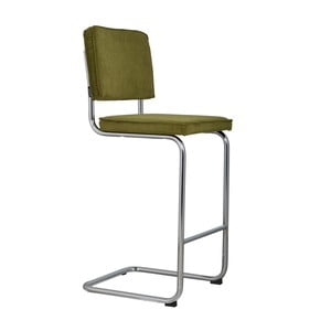 Zelená barová židle Zuiver Ridge Rib