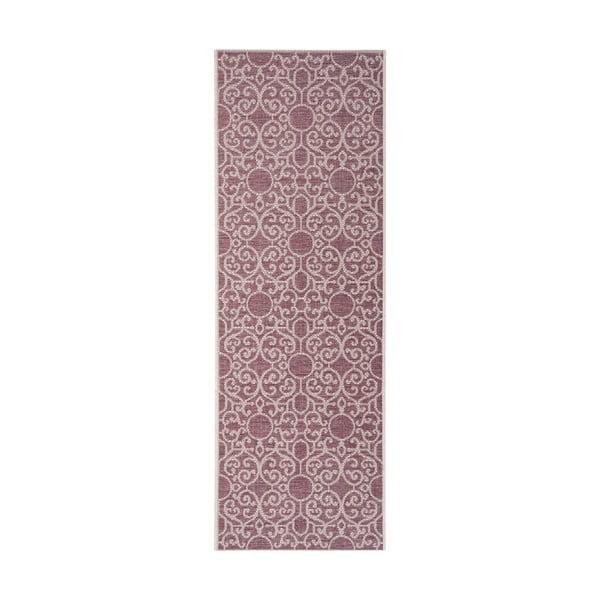 Nebo lila-bézs kültéri szőnyeg, 70 x 200 cm - Bougari