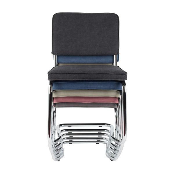 Sada 2 tmavě modrých židlí Zuiver Ridge Rib Kink Vintage