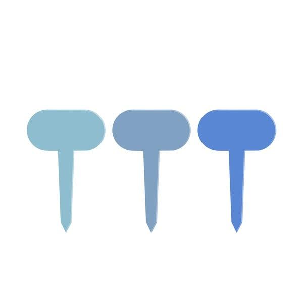 Set 6 etichete pentru plante Esschert Design Gardener, lungime 11 cm, albastru