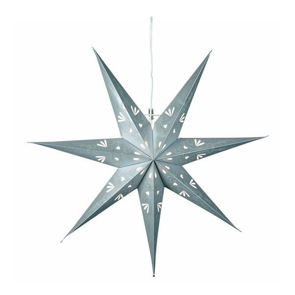 Závěsná svítící hvězda Metasol Grey Silver, 70 cm