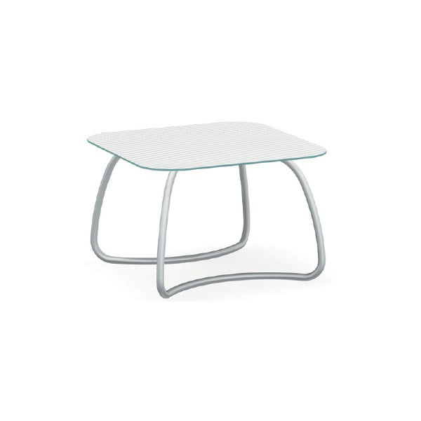Stůl Loto Dinner Bianco, bílý, 110 x 110 cm