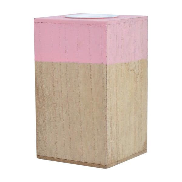 Stojan na čajovou svíčku Pink Natural