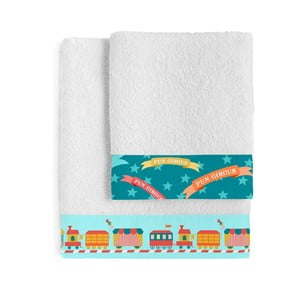 Set osušky a ručníku Little W Fun Circus