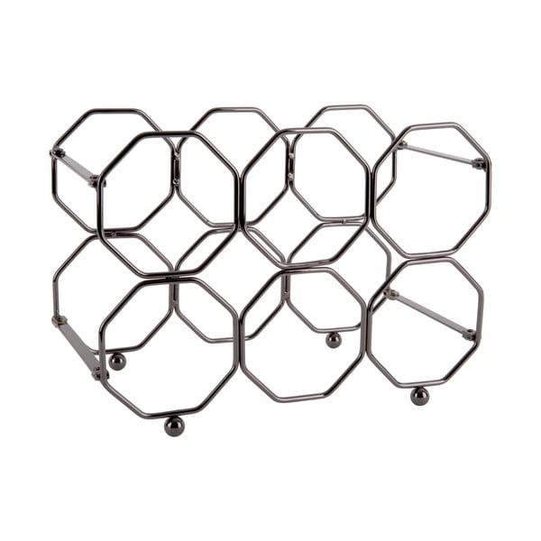 Sivý kovový skladací držiak na víno PT LIVING Honeycomb