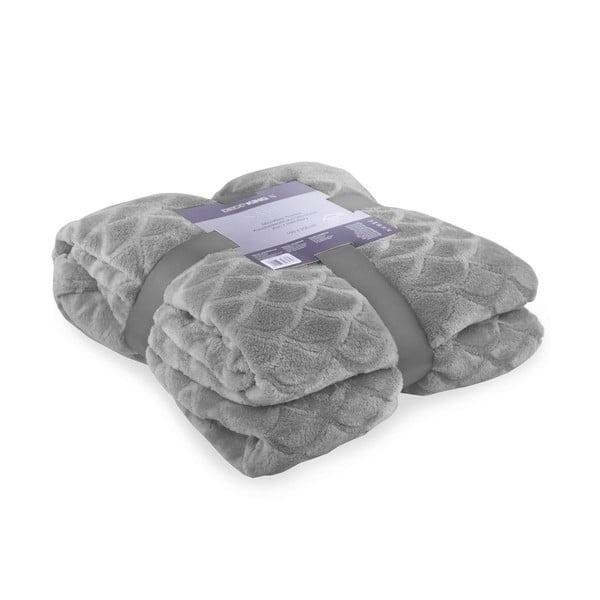 Szary koc z mikrowłókna DecoKing Sardi, 170x200 cm