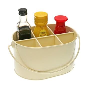 Suport din metal pentru sticluțe cu condimente Versa, bej imagine