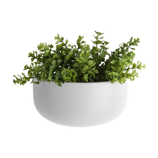 Matowa biała ceramiczna doniczka wisząca PT LIVING Nest