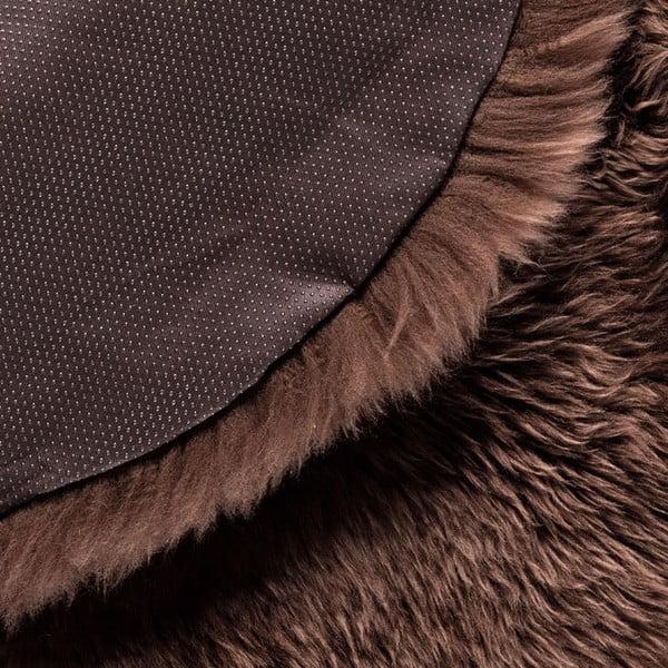 Hnědý kulatý koberec Royal Dream Zealand