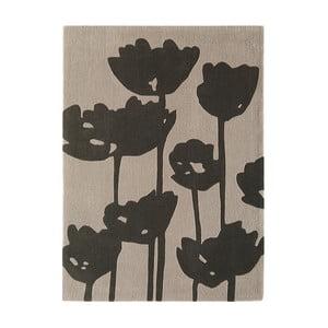 Covor Asiatic Carpets Harlequin Florist, 170 x 120 cm, gri închis