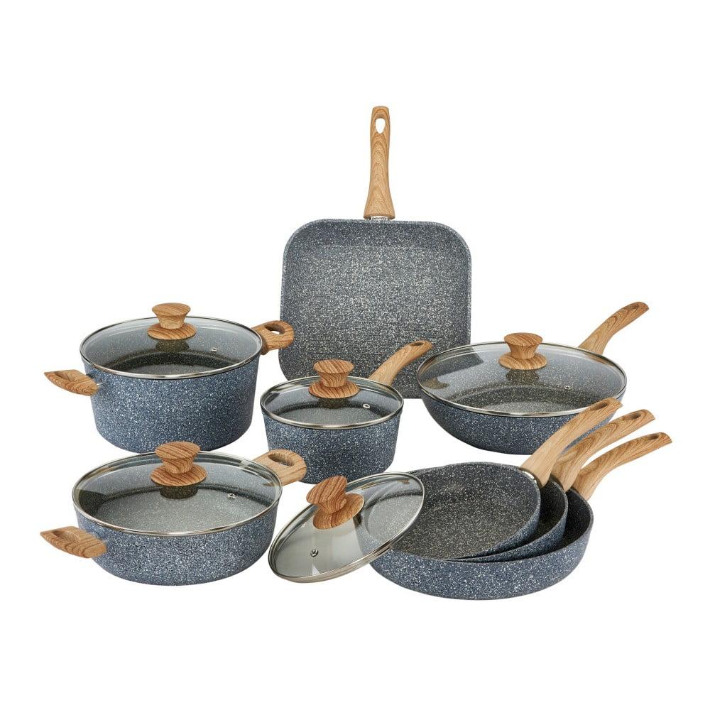 13dílný set nádobí s poklicemi a dřevěnými úchyty Bisetti Pierre Gourmet
