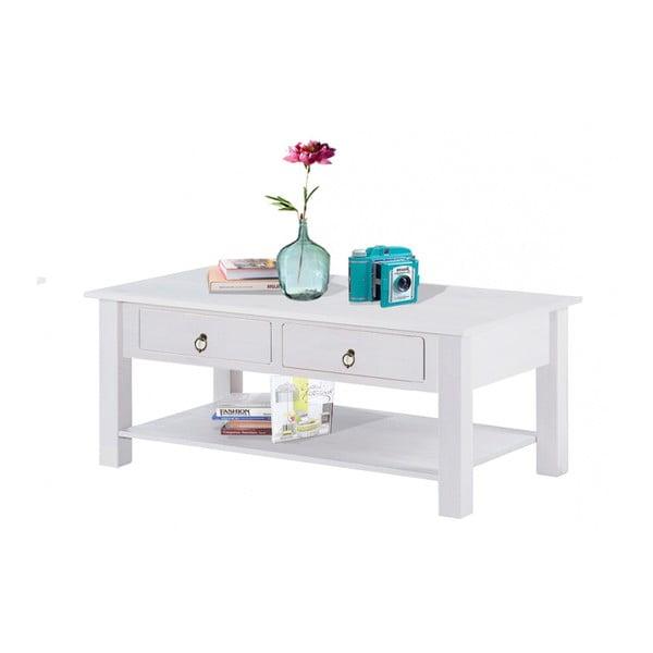 Bílý konferenční stolek z borovicového dřeva Støraa Inda