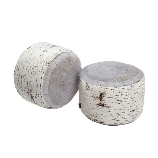Sedák vhodný do exteriéru MeroWings Birch Tree Stump, Ø 60 cm