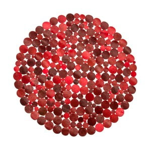 Koberec Cotex Palazzo Red Mix, ø 110 cm
