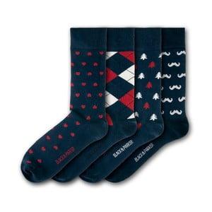 Sada 4 ponožek Black&Parker London Bicton Park, velikost 37 – 43