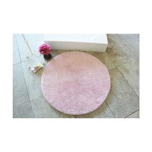 Světle růžová koupelnová předložka Confetti Bathmats Colors of Light Pink, ⌀ 90 cm
