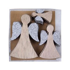 Sada 12 vánočních ozdob ve tvaru andělíčků Ego Dekor Saint