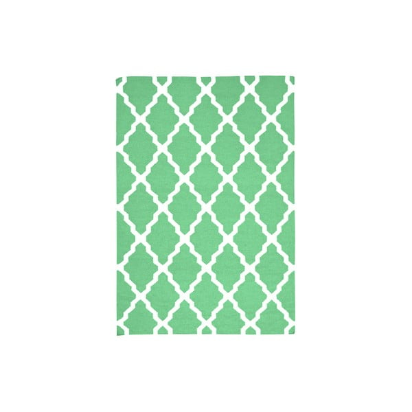 Ručně tkaný koberec Kilim Design Four Green, 200x290 cm