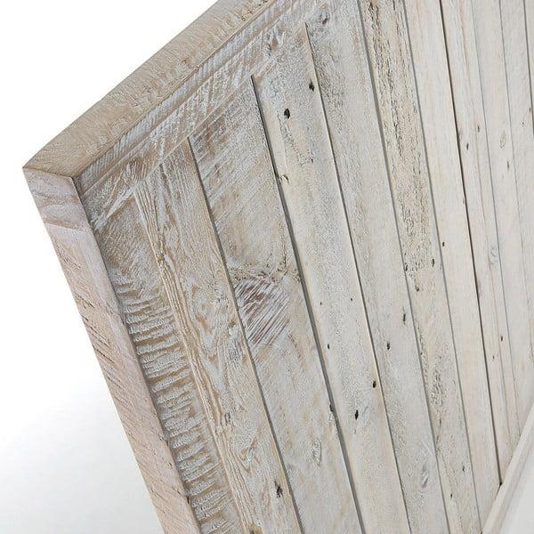 Dřevěné čelo postele s bílou patinou La Forma Woody, délka164cm