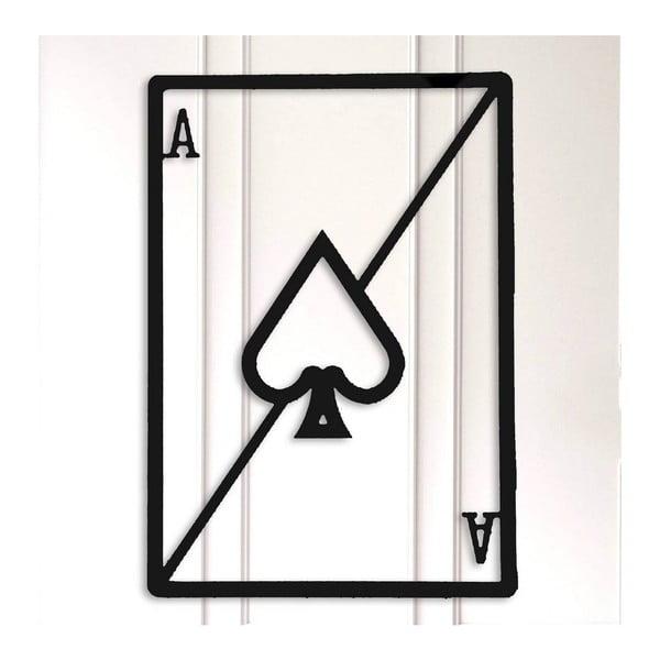 Černá kovová nástěnná dekorace Card