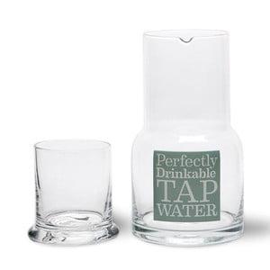 Skleněná karafa se sklenicí Tap Water