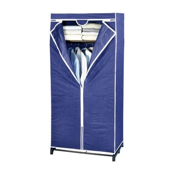 Șifonier din material textil Wenko, 160 x 50 x 75 cm, albastru imagine
