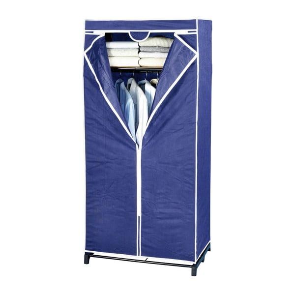 Kék szövet tárolószekrény, 160 x 50 x 75 cm - Wenko