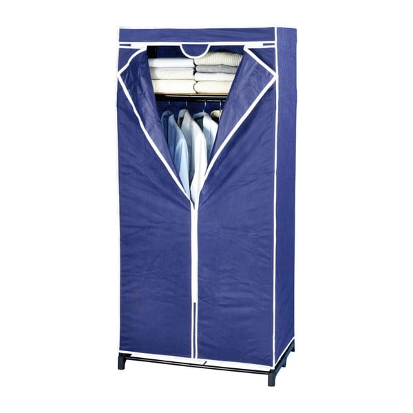 Modrá látková úložná skříň Wenko, 160 x 50 x 75 cm
