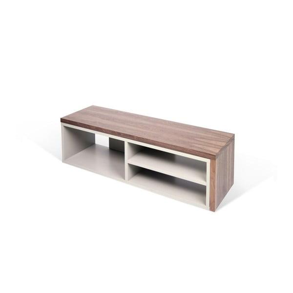 Šedý variabilní televizní stolek s ořechovou dýhou TemaHome Move