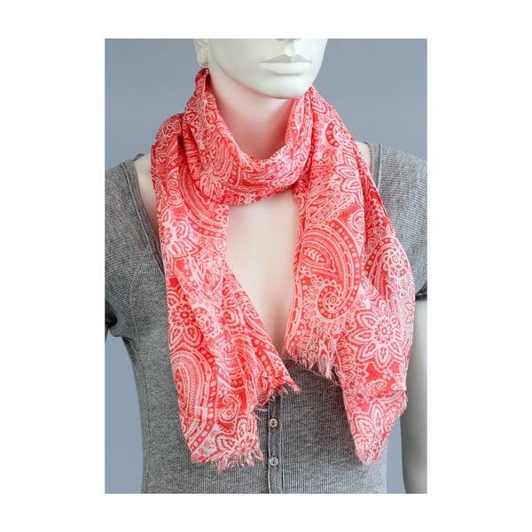 Růžovobílý šátek