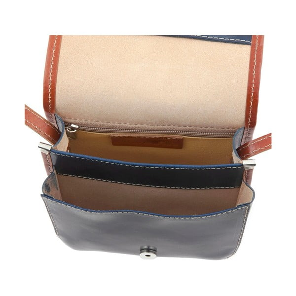 Kožená kabelka Campagna, blu/brown