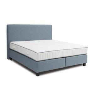 Světle modrá boxspring postel Revor Roma,140x200cm