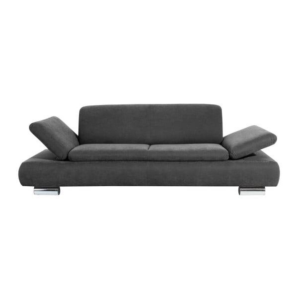 Canapea cu 3 locuri Max Winzer Terrence Anderson, cotiere ajustabile, gri antracit