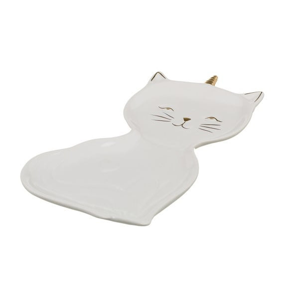 Farfurie din porțelan Unimasa Kitty, lungime 22 cm, alb