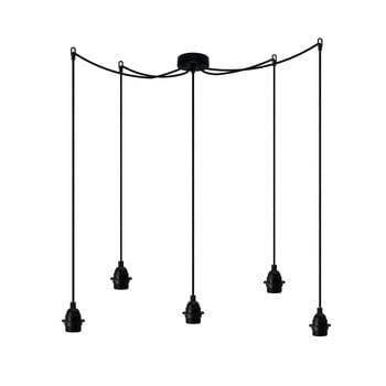 Lustră cu 5 cabluri Bulb Attack Uno Primary, negru imagine