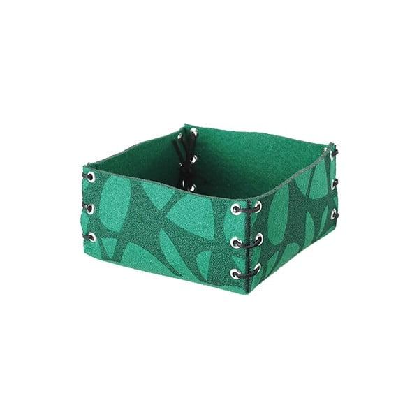 Plstěná krabička  25x10 cm, zelená