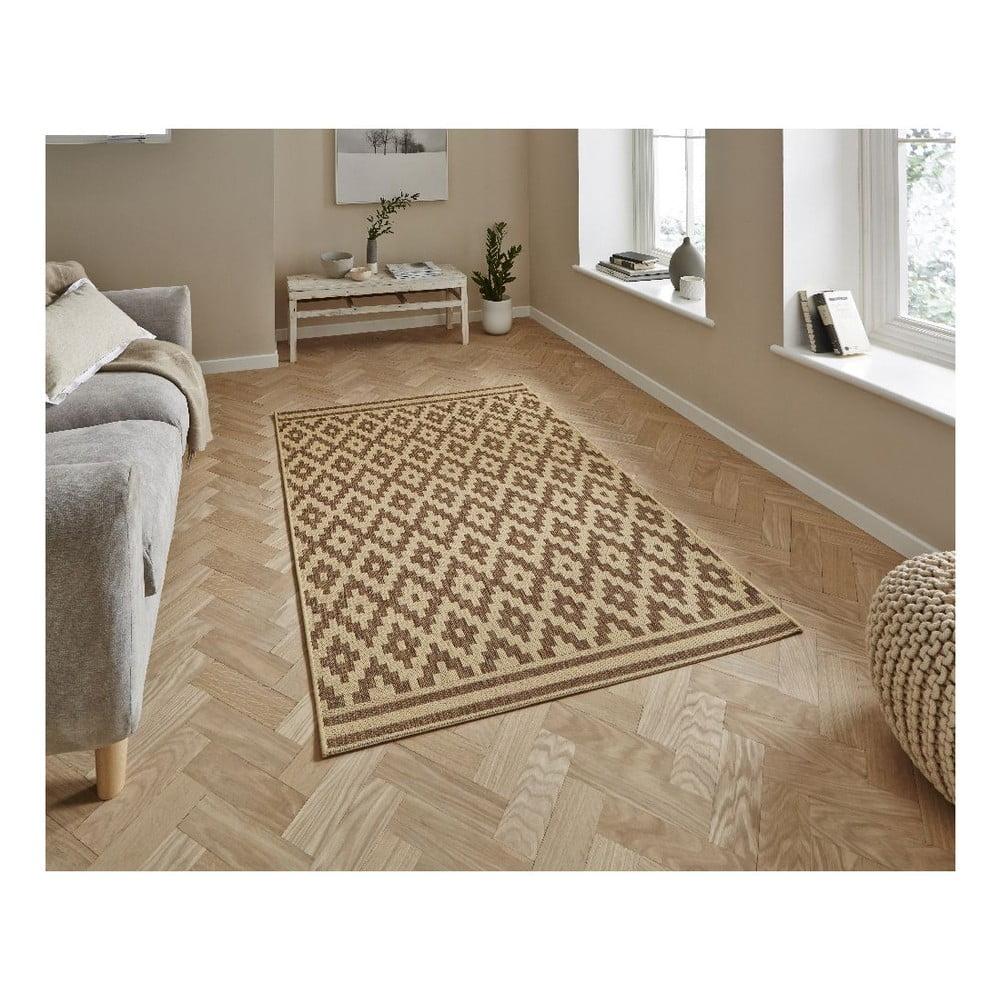 Hnědý koberec Think Rugs Cottage 160 x 220 cm