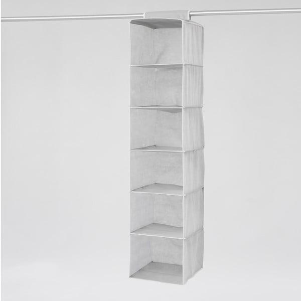 Textilní závěsný organizér Compactor Clear 6 Rack