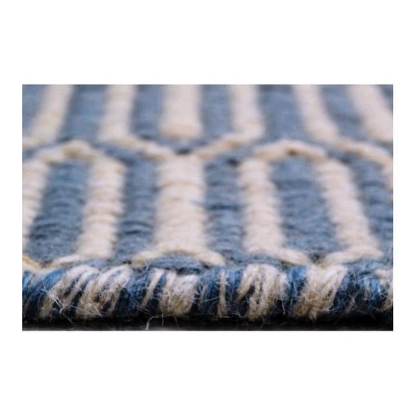 Ručně tkaný koberec Flat Honey Teal, 140x200 cm