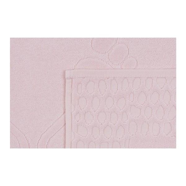 Růžová koupelnová předložka Pastela, 70x 50cm