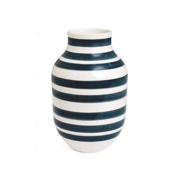 Sivo-biela kameninová váza Kähler Design Omaggio, výška 30,5 cm