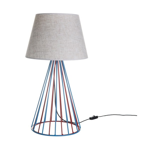 Stolní lampa Wiry White/Blue/Red