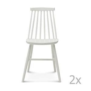 Set 2 scaune din lemn Fameg Age, alb