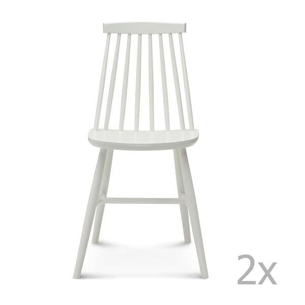 Sada 2 bílých dřevěných židlí Fameg Age