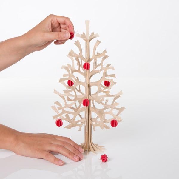 Skládací dekorace Lovi Spruce Minibaubles Bright Red