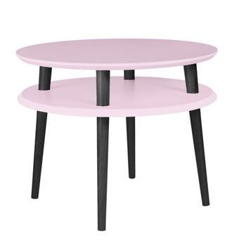 Masă de cafea cu picioare negre Ragaba UFO, Ø 57 cm, roz deschis de la Ragaba