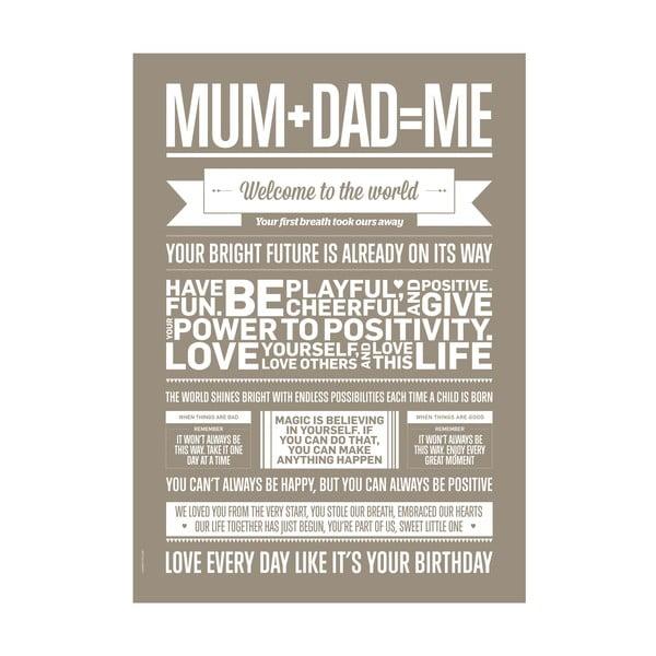 Autorský plakát Mum+Dad=Me, A3