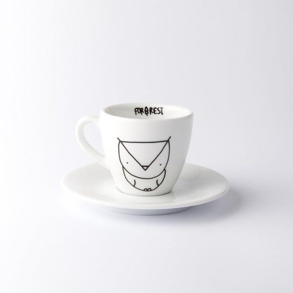 Hrnek na espresso s podšálkem Owl, 100 ml