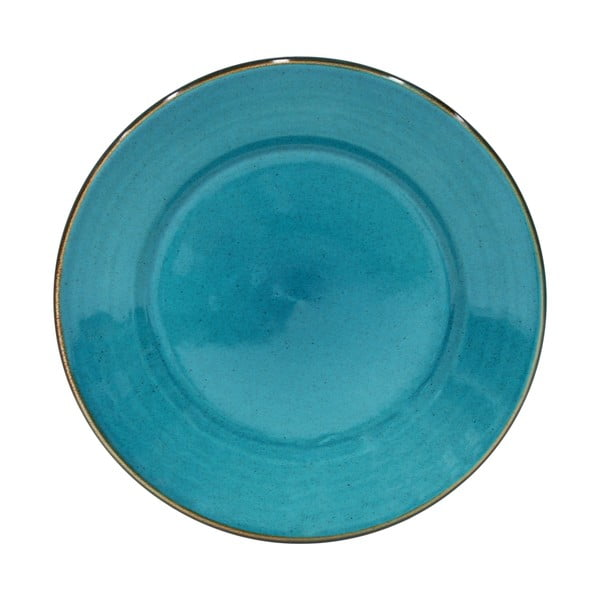 Niebieski talerz z kamionki Casafina Sardegna,⌀30cm