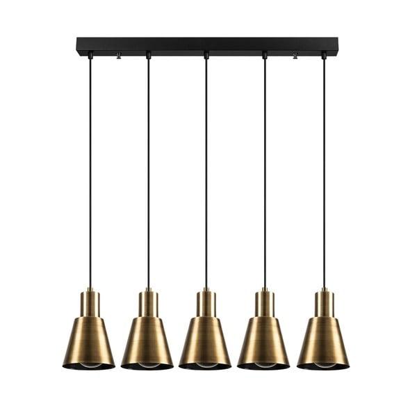 Lustră de 5 becuri Opviq lights Kem Tube, auriu